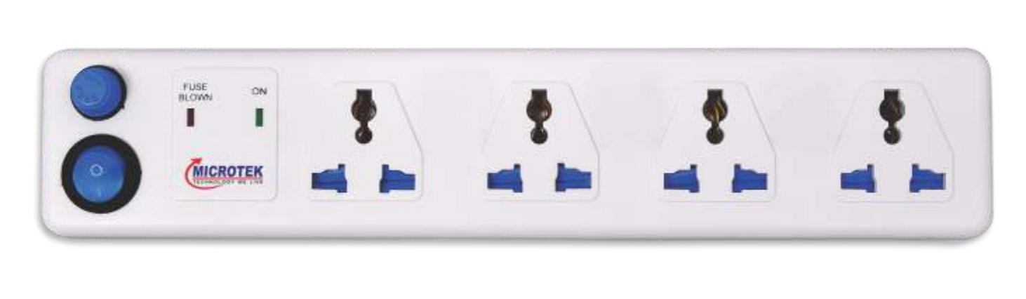 SPIKE GUARD, 4 SOCKET WITH SINGLE SWITCH(1.5 METER)